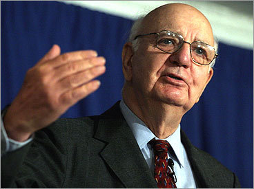 Paul Volcker, former chairman of the Federal Reserve