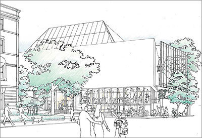 A sketch from 'Renzo Piano's Art Museum for Harvard'