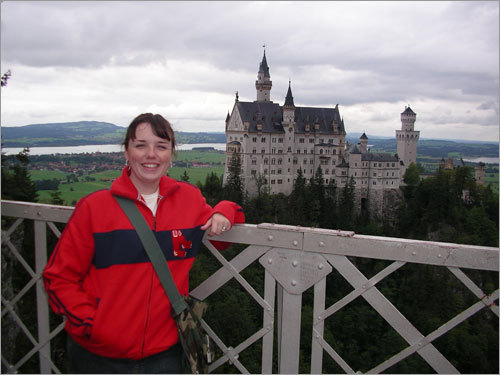 Lindsey Dane from South Boston showed her Red Sox pride when she visited Neuschwanstein Castle in Germany while stationed at Landstuhl with with the US Army.