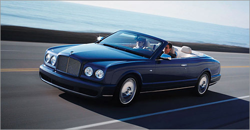 Bentley Azure Least efficient compact EPA City/Highway: 9/15 The Azure is the esteemed grandfather of the Bentley family, decidedly stuck in tradition yet universally admired and respected. It dates back to 1995 - before Volkswagen ownership - and commands the marque's second-highest price ($329,990) after the new Brooklands coupe. With a colossal 645 pound-feet of torque on tap at only 1,800 rpm, the equally ancient 6.75 liter V-8 thrusts the three-ton convertible with alarming ease. It's no wonder there's a 25.3 gallon tank on board. (Bentley Motors Ltd.)
