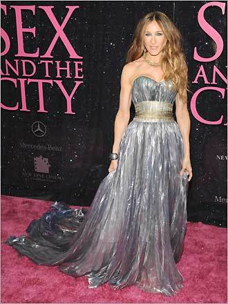 Actress sarah jessica parker arrives at the new york city premiere of