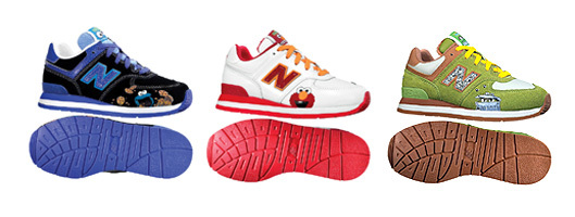 Cookie Monster, Elmo, and Oscar the Grouch lead the New Balance lineup as the