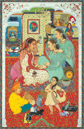 'Nyrmla's Wedding II,' by Amrit and Rabindra Singh, 1985/6.