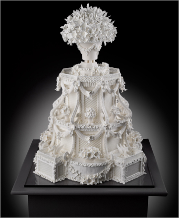 Meticulously designed by renowned cake designer Cile Bellefleur Burbidge, an Architectural Fantasy Cake from 2007.