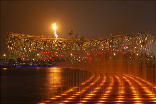 The Olympic flame burned above the National Stadium during the opening ceremonies and people throughout Beijing could see it. While world leaders and 91,000 people watched the opening ceremonies from the inside, it was suggested that the ceremonies were watched by a worldwide audience of 4 billion people.