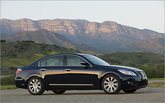 The Hyundai Genesis has bits of BMW, Infiniti and Lexus in every curve. That's not bad, but it's not in any way original.