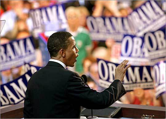 July 27, 2004 Many argue Senator Barack Obama's road to the Democratic nomination began during the last presidential election when he emerged as rising star of the Democratic Party after he gave a rousing keynote address at the Democratic National Convention.