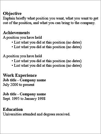 Functional résumé What it is: Focuses on a candidate's goals, skills, and accomplishments. Best for: Job searchers who are changing careers, have gaps in their employment, have a short employment history, are looking to reenter the workforce, or have a background that doesn't match the job desired.