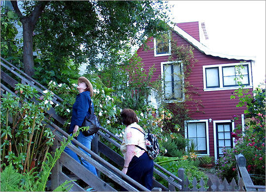 An 1863 cottage on the Filbert Steps in San Francisco.