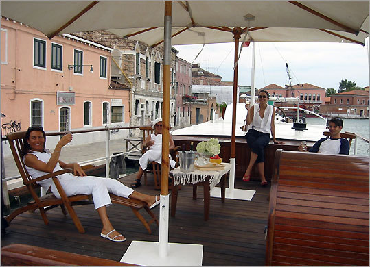 La Docle Vita's luxury barges cruise Venetian Lagoon, islands of Torcello, Burano, Murano, and the canalized Brenta River.
