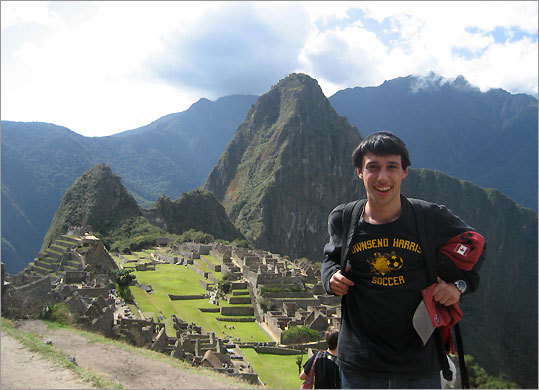 '... People were living the history I was learning about in my course.' Ezra Waxman, a Boston University sophomore, on his encounters in Peru.