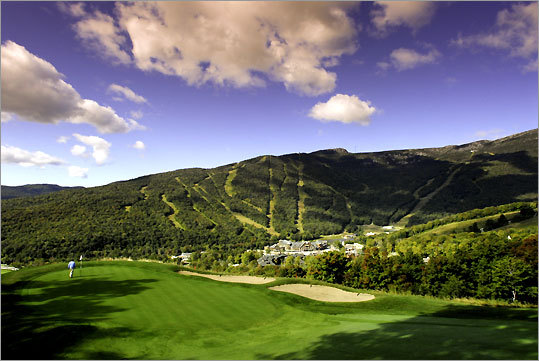The course at Stowe Mountain club offers gorgeous views.