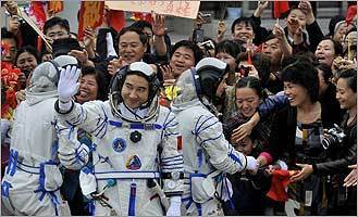 China launches mission for first spacewalk
