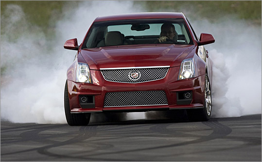 The 2009 Cadillac CTS-V clings to corners and has horsepower to burn.