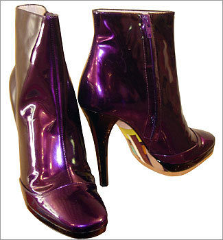 Fancy footwork Purple is the color for fall, and we think Emilio Pucci's purple patent-leather ankle boots will make a truly regal fashion statement. You can pick up a pair at Leokadia , Jessica Lynn's South End women's shoe paradise. Lynn also has Costablanca from Spain, Repetto from Paris, French Sole from London, and Donna Karan. The shop is named for her mother, a 'shoe fanatic,' according to her daughter, who has 1,000 square feet of closet space just for her shoes. The shop also carries jewelry, hair accessories, handbags, and apparel. Shoes start at $80. Leokadia, 667 Tremont St., Boston. 617-247-7463. leokadiashoes.com .