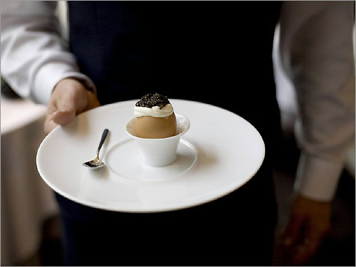 The egg caviar is a signature dish at Jean Georges.