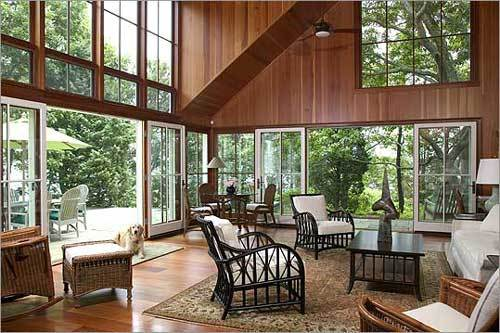 The Great Room Is Large With A Feeling Of Transparency Doors And Windows Are