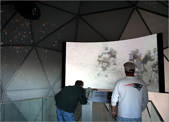 Inside The Hall at Patriot Place, fans can relive the 2002 Oakland Raiders game that launched New England toward its first Super Bowl win.