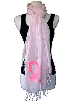 Tolani Breast Cancer Awareness Scarf