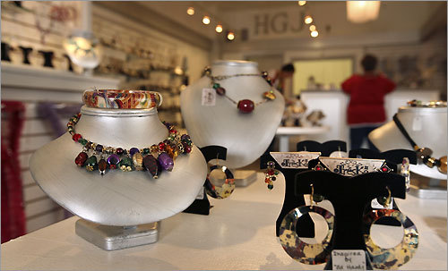 High Gear Jewelry at 204 Hanover St.sells eclectic jewelry from all over the world.