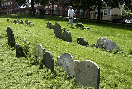 The North End lies along the Freedom Trail, which includes Copp's Hill Burying Ground.