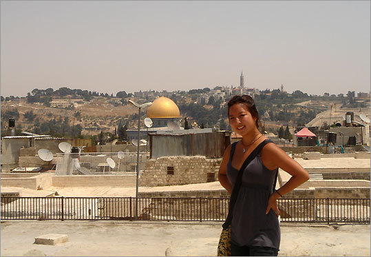'While Jerusalem is often portrayed in the media as a volatile place, I would not say that it is any harder or more daunting than any other city.' Stacy Lee, Wellesley College junior.