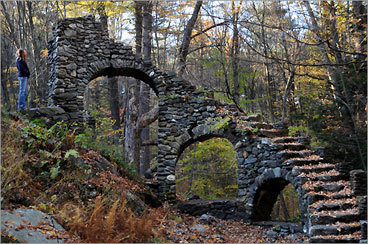 in the woods in chesterfield nh the ruins of madame sherris castle remain - Halloween New Hampshire