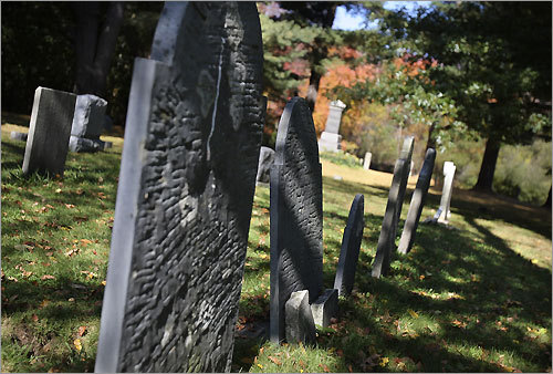 The family burying ground at the Rebecca Nurse Homestead. Forty of Nurse's neighbors believed Nurse's plea of innocence and signed a petition testifying to her Christian character, but it wasn't enough to save her from a trip to the gallows.