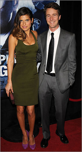 Lake Bell and Edward Norton
