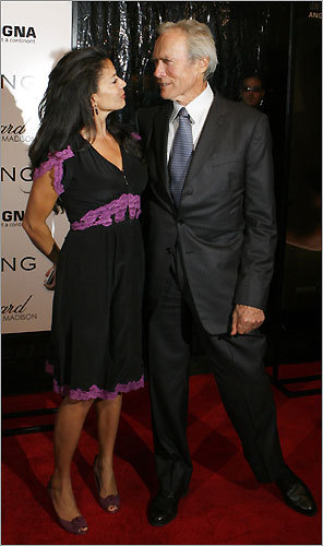 Clint Eastwood and his wife