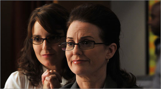 Tina Fey and Megan Mullally