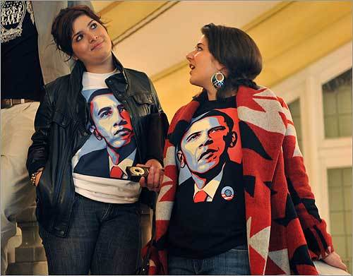 Madrid Supporters of Obama attended the Circulo de Bellas Artes in Madrid, a special event for the US elections.