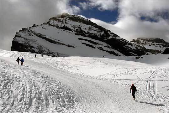 Gemmi Pass in Switzerland