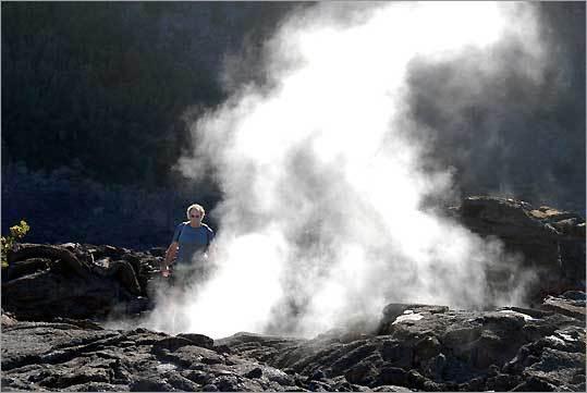 Kilauea crater in Hawaii