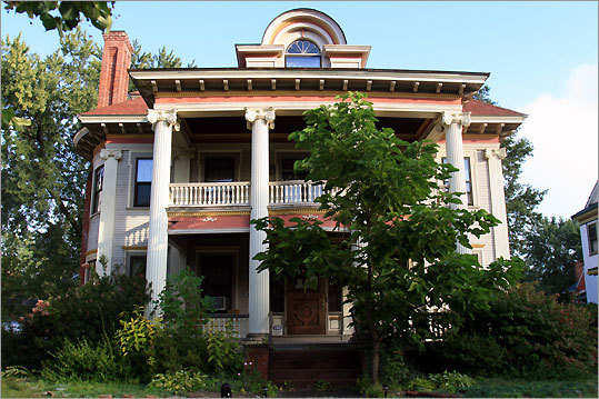 Lathrop House in Springfield, across the street from Forest Park, recalls the architectural style of the city's Gilded Age.
