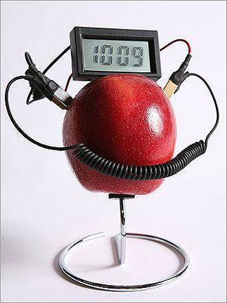 Fruit Powered Clock