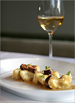 Prune stuffed gnocchi at No. 9 Park