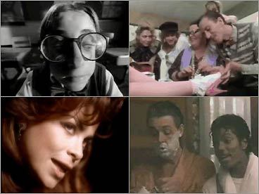 In the 1980s, MTV videos gave the failing music industry a commercial future, ceaselessly unspooling bright, seductive ads to sell artists, songs, albums, and related personal accoutrements. At their best, though, music videos were also pieces of pop art. They became an extremely influential form, not just on movie directors who borrowed the fast-edit style but on viewers who connected with the images and messages. In 1994, the Globe even started reviewing them. Now, of course, MTV is far too busy serving up overheated reality shows to bother with music. But recently the network wisely set 16,000 plus MTV videos loose on the Internet (with more to come), through a new site called MTVmusic.com . Here's a tour through the classic clips that turned us on. — Matthew Gilbert, Globe Staff