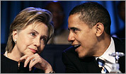 Clinton and Obama: In step on foreign policy?