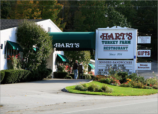 Hart's Turkey Farm Restaurant in Meredith, N.H., opened in 1954 as a 12-seat restaurant and now accommodates 500.