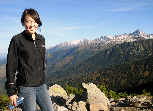 Julia Kitlinski-Hong in the Tatra Mountains.