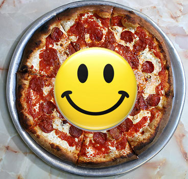 One unusual gift from a co-worker frightened its recipient, according to the survey. It was a plastic pizza with a face .