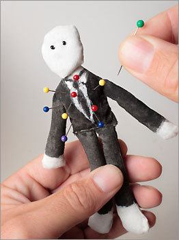 One co-worker wanted to help another stick it to the man — literally. His gift was a voodoo doll of their boss . Needless to say, the boss was not happy when he found out about the present.