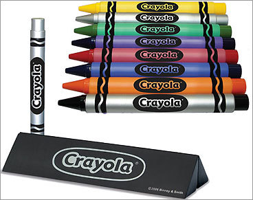 ThinkGeek :: Crayola Executive Pen :  ball point pen thinkgeek writing instrument