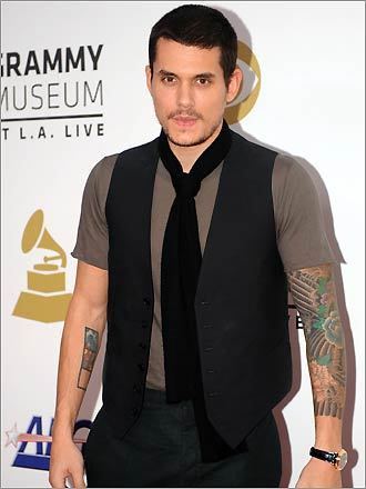 John Mayer's tattoos include: full sleeve elaborate design (aka Prison Break