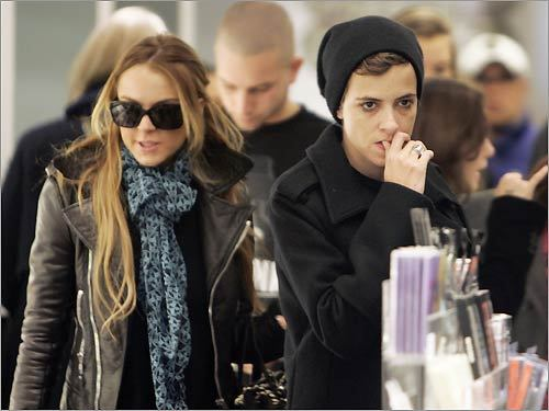 Linsday Lohan and Samantha Ronson
