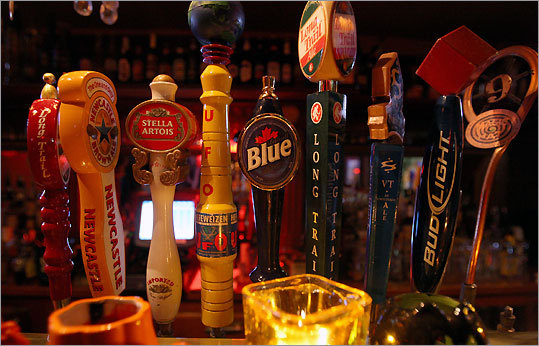 At Red Square Bar and Grille, several Burlington brews are on tap.
