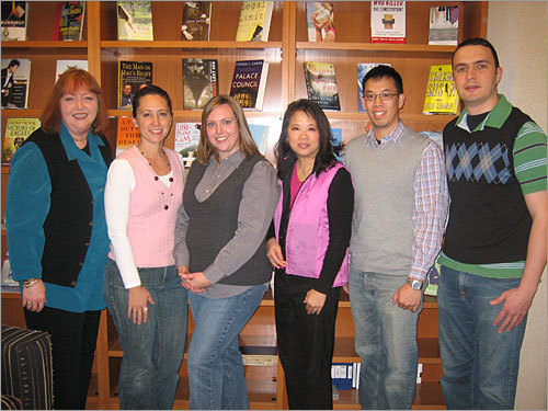 Employees at Random House in New York show their colors in this Vestival celebration photo sent in by Tim Mak. 'When I brought it up to my co-workers, it was met with surprising enthusiasm, and praised for its ease of celebration,' writes Mak. 'I would say about 75 percent of the people I told participated.'