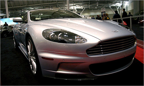 It's too bad Tobias couldn't get in this Aston Martin, but here it is from a different angle.