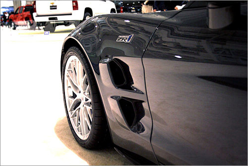 You can't take a bad photo of the Corvette ZR1--and its massive 19-inch front wheels.